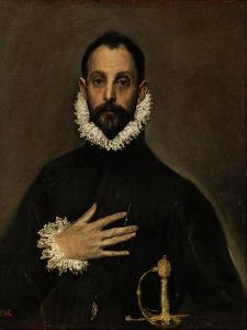 Nobleman with His Hand on His Chest, C. 1580 by El Greco