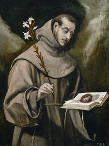 Saint Anthony of Padua, 1577-79 by El Greco