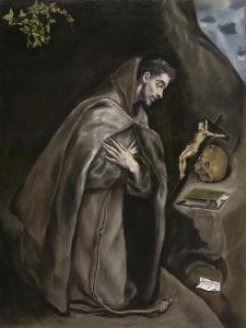 Saint Francis Kneeling in Meditation, 1595-1600 by El Greco