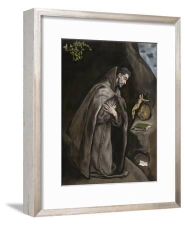 Saint Francis Kneeling in Meditation, 1595-1600