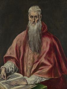 Saint Jerome as Cardinal, 1590-1600 by El Greco