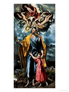 Saint Joseph and the Young Christ by El Greco