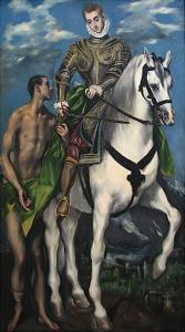 Saint Martin and the Begger, c.1597-99 by El Greco