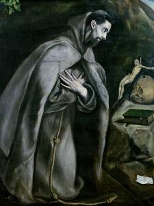 St. Francis of Assisi, 1580-95 by El Greco