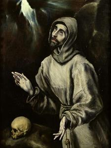St. Francis of Assisi Receiving the Stigmata, c.1595 by El Greco