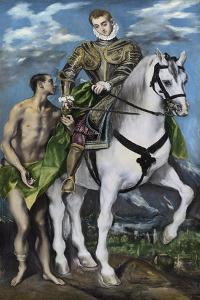 St. Martin and the Beggar, 1597-99 by El Greco