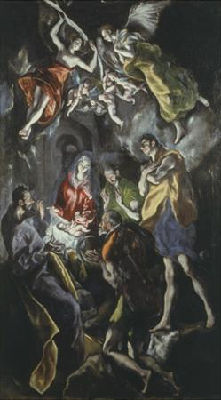 The Adoration of the Shepherds 319X180Cm Painted at End of His Life by El Greco