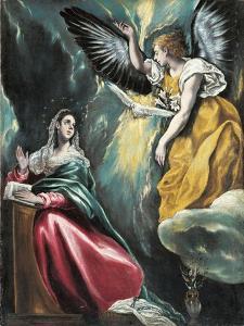 The Annunciation, 1595-1600 by El Greco