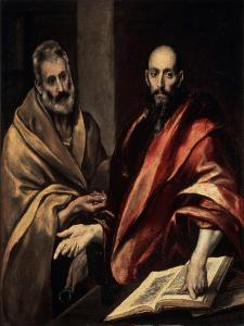 The Apostles St. Peter and St. Paul, 1587-1592 by El Greco