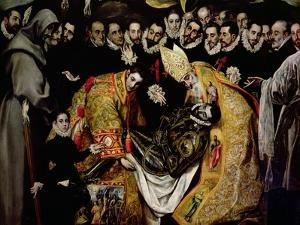 The Burial of Count Orgaz, from a Legend of 1323, Detail of a Young Page, St. Etienne, 1586-88 by El Greco