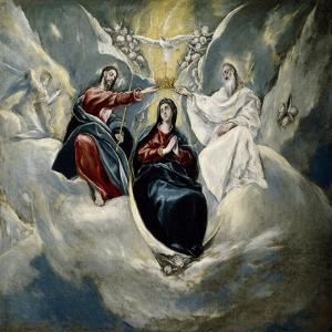 The Coronation of the Virgin, 1592 by El Greco