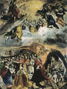 The Dream of Philip II or the Triumph of the Holy League by El Greco
