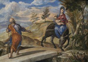 The Flight into Egypt, C. 1570 by El Greco