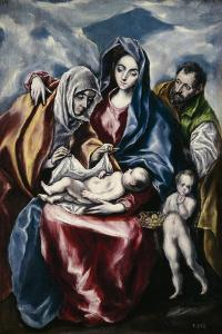 The Holy Family with Saint Anne and John the Baptist as Child, Ca. 1600 by El Greco