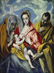 The Holy Family with Saint Anne, C. 1595 by El Greco