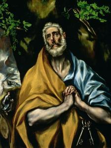 The Tears of St. Peter, Late 1580s by El Greco