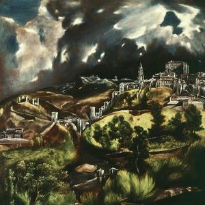 View of Toledo, Spain, 1595-1610 by El Greco