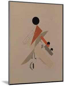 Globetrotter. Figurine for the Opera Victory over the Sun by A. Kruchenykh, 1920-1921 by El Lissitzky