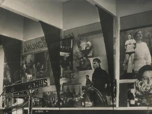 Interior of the Soviet Pavilion at the International Press Exhibition, Cologne by El Lissitzky