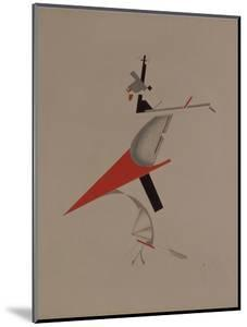 Ruffian, Figurine for the Opera Victory over the Sun by A. Kruchenykh, 1920-1921 by El Lissitzky