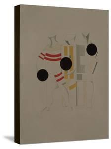 Sportsmen, Figurine for the Opera Victory over the Sun by A. Kruchenykh, 1920-1921 by El Lissitzky
