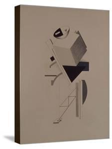 Strong Guy. Figurine for the Opera Victory over the Sun by A. Kruchenykh, 1920-1921 by El Lissitzky