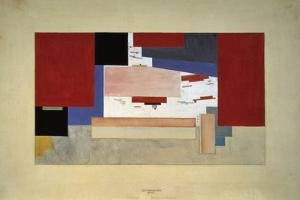 Suprematism (Sketch for a Curtain), 1919 by El Lissitzky