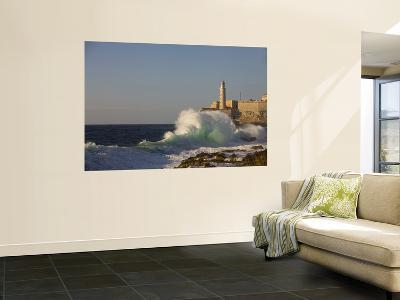El Morro Castle and Pounding Waves on the Malecon-Brent Winebrenner-Wall Mural