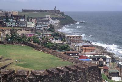 El Morro Fort as Viewed From San Cristobal Fort-George Oze-Photographic Print