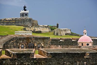 El Morros Defense, Old San Juan, Puerto Rico-George Oze-Photographic Print