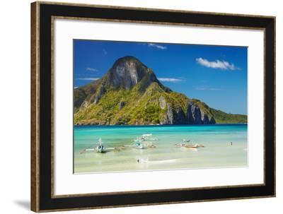 El Nido Bay and Cadlao Island, Palawan, Philippines-DmitryP-Framed Photographic Print