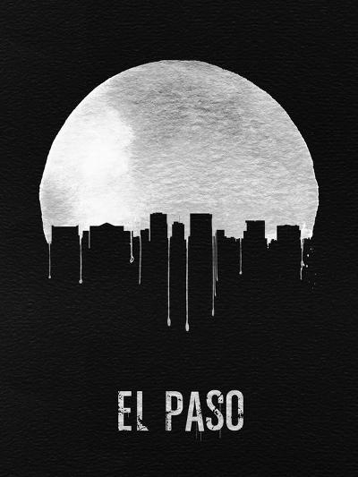 El Paso Skyline Black--Art Print