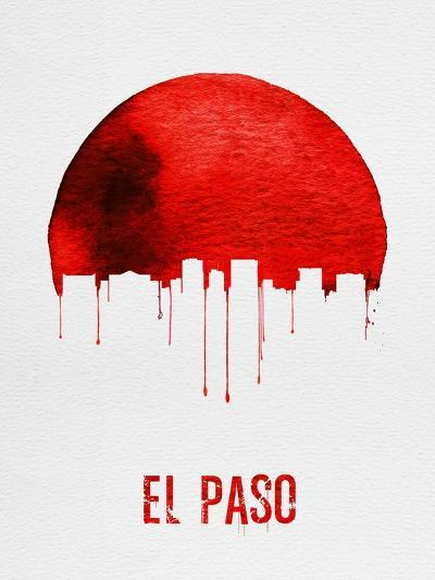 El Paso Skyline Red--Art Print