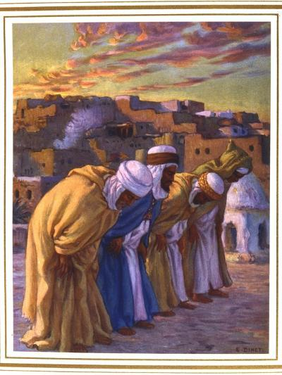 El Rekaa Ou L'Inclination (La Prier) (Prayer of Inclinatio), 1918-Etienne Dinet-Giclee Print