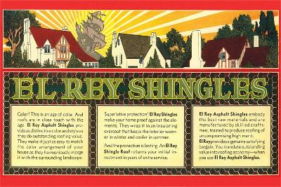 El Rey Shingles Ad--Art Print