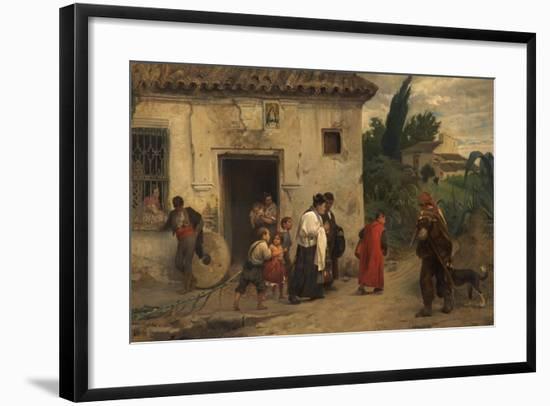 El Santo Óleo, or the Holy Oil, 1871-Jose Jimenez aranda-Framed Giclee Print