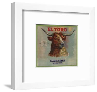 El Toro Brand - California - Citrus Crate Label-Lantern Press-Framed Art Print