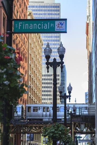 El Train in the Loop, Downtown Chicago, Illinois, United States of America, North America-Amanda Hall-Photographic Print
