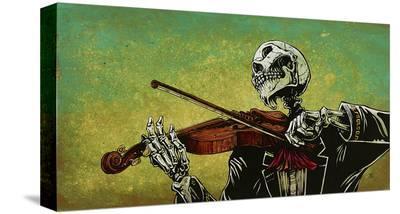 El Violinista-David Lozeau-Stretched Canvas Print