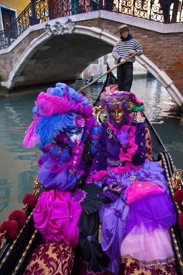 Elaborate Costumes for Carnival Festival, Venice, Italy-Jaynes Gallery-Photographic Print
