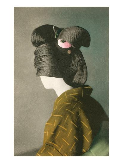 Elaborate Japanese Hairstyle--Art Print