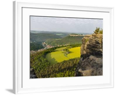 Elbe Sandstone Mountains-Martin Zwick-Framed Photographic Print