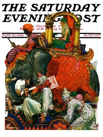 """Circus Parade,"" Saturday Evening Post Cover, June 16, 1928"
