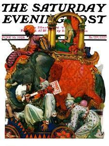 """Circus Parade,"" Saturday Evening Post Cover, June 16, 1928 by Elbert Mcgran Jackson"