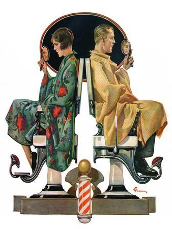 """Couple in Barber Chairs,""May 10, 1930"
