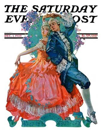 """Dancing Couple,"" Saturday Evening Post Cover, December 1, 1928"
