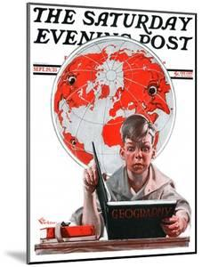 """Geography,"" Saturday Evening Post Cover, September 29, 1923 by Elbert Mcgran Jackson"