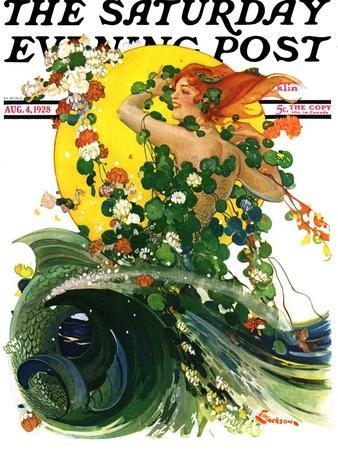 """Mermaid,"" Saturday Evening Post Cover, August 4, 1928"