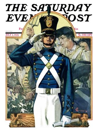 """Military School Graduate,"" Saturday Evening Post Cover, July 3, 1926"