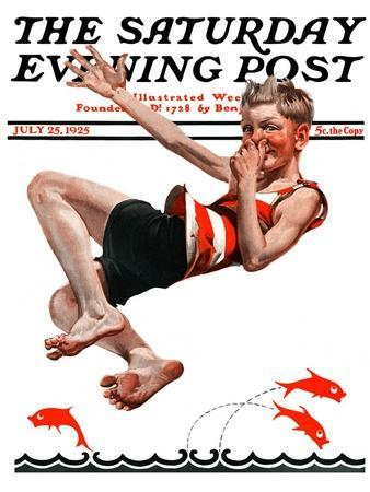 """Nose Dive,"" Saturday Evening Post Cover, July 25, 1925"